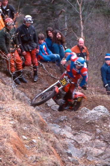 Rob Shepherd (300 Honda RTL300) on Grey Mare's Ridge in the 1979 Scottish Six Days - © - Iain Lawrie, Kinlochleven.