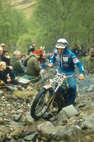 Yrjo Vesterinen (340 Bultaco) on Cnoc A Linnhe in the 1981 Scottish Six Days - © – Iain Lawrie, Kinlochleven.