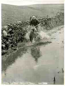 David Tye on his factory BSA in the 1954 Scott Trial, an event he won in 1953. Photo: Ray Biddle, Birmingham.