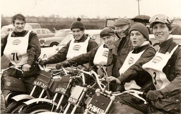 1970 Inter-Centre Team Trial Winners - S.W.Centre -I.Blackmore, B.Higgins, J.Luckett, J.Courtney (Manager), A.Dommett, I.Haydon