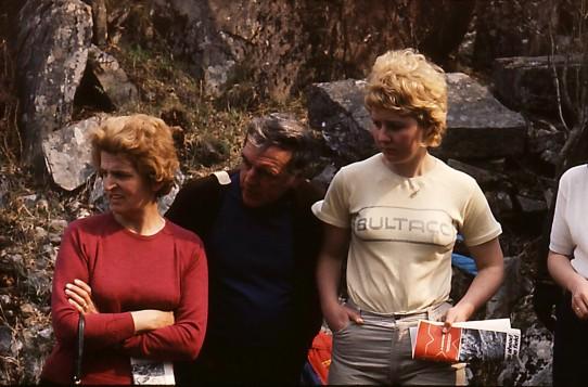 Brenda enjoys the Scottish sunshine during the 1969 SSDT