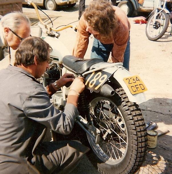 Colin Dommett - Running repairs on the Ossa - SSDT