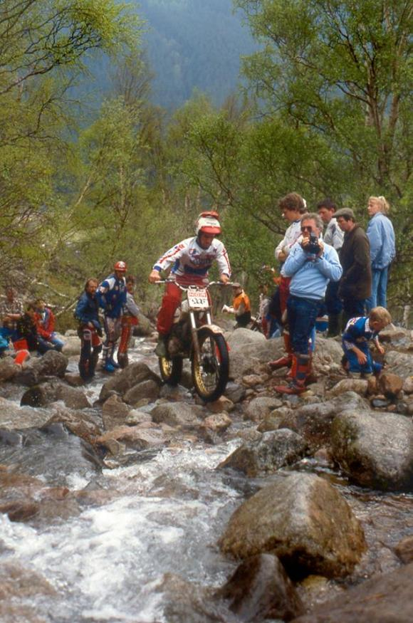 Colin Ward Jnr from Stanley ,County Durham in the 1988 Scottish Six Days on Ben Nevis. Hos fatehr Colin Ward Snr was a handy rider and backmarker at the SSDT for many years Photo: Iain Lawrie, Kinlochleven
