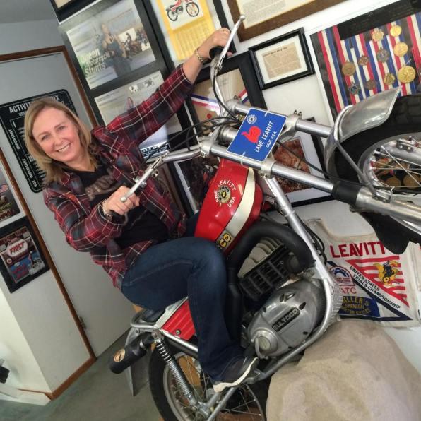 Debbie on Bultaco - Lane Leavitt