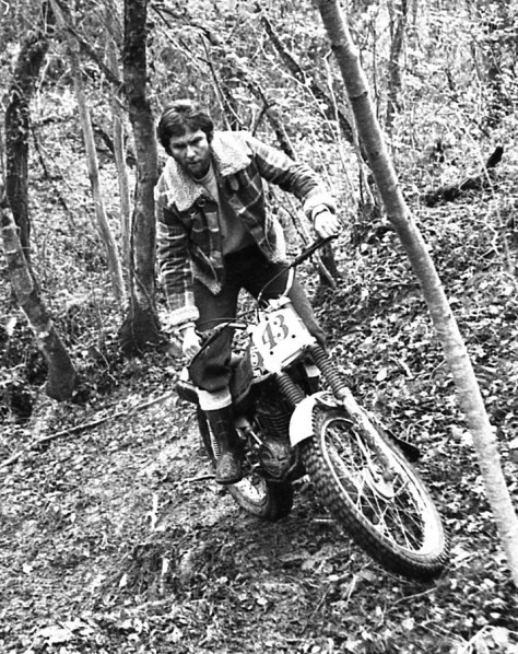 Ian Haydon trying a 310 Montesa