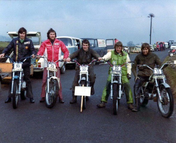 South Western Centre Team Trial Team 1975 - B.Higgins, I.Haydon, A.Dommett, J.Luckett & M.Strang.