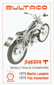 1977 SSDT prog rear cover - Bultaco advert