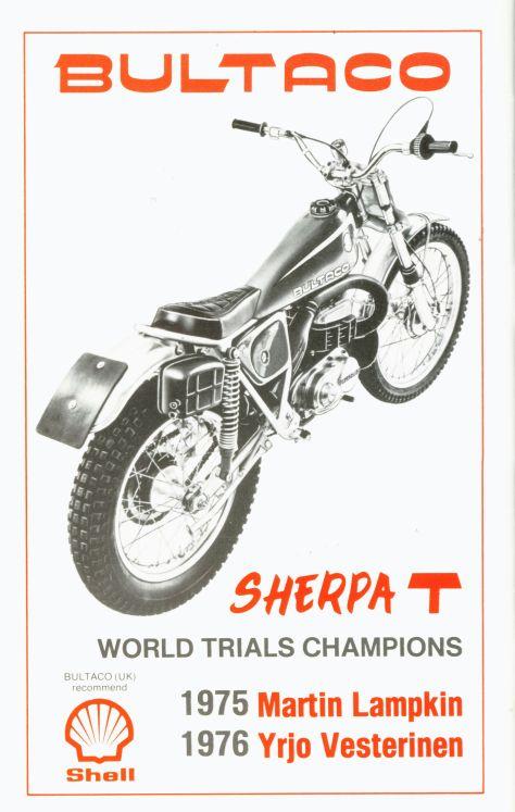 1977 SSDT prog rear cover - Bultaco advert