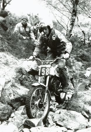 Charles Coutard in 1980 on the 276cc SWM on which he came in