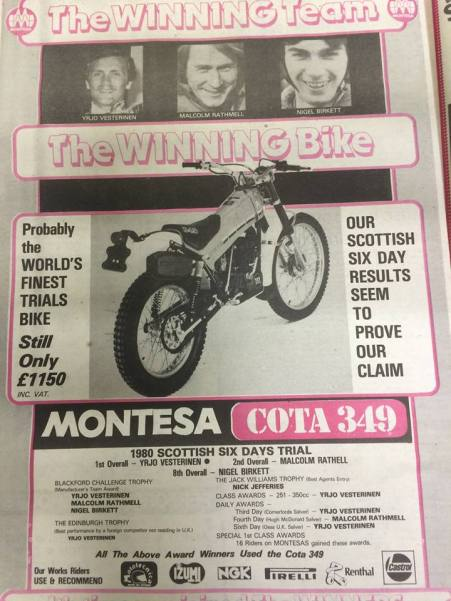 1980 SSDT - Montesa advert