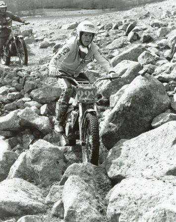Bernie Schreiber on his factory SWM on his way to win the 1982 SSDT - Photo: John Hone
