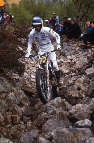 Eddy Lejuene on the factory RTL250'87 Garbh Beinn
