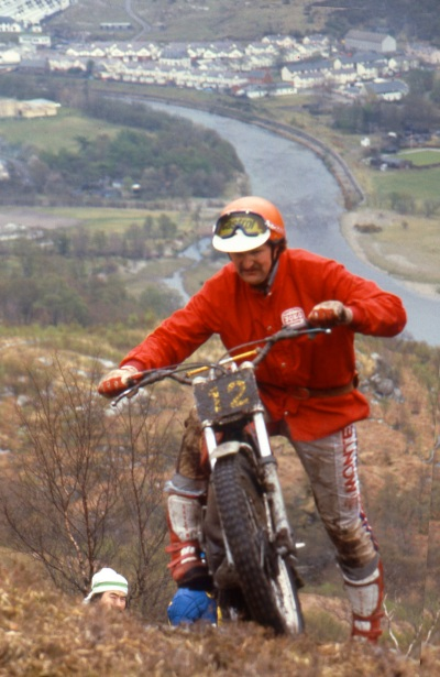 Felix Krahnstover (Montesa) in 1983 on Mamore - Photo: Iain Lawrie, Kinlochleven