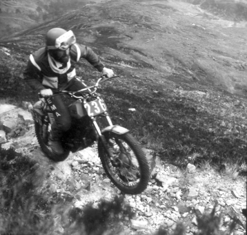 Italian, Giovanni Tosco, SWM on Caillich in the 1980 event - Photo: Iain Lawrie, Kinlochleven