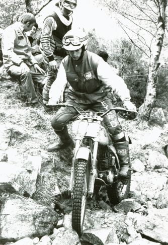1980 - John Lampkin's first Scottish on the 250cc Colin Appleyard Bultaco.