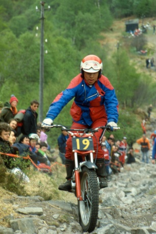 Kiyoteru Hattori, Japan 250 Honda on pipeline in 1980 - 16th 170 marks