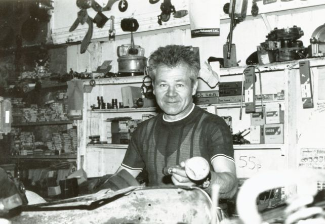 Willie Pitblado in his Dunfermline shop - Photo copyright: John Honeyman, Markinch, Fife