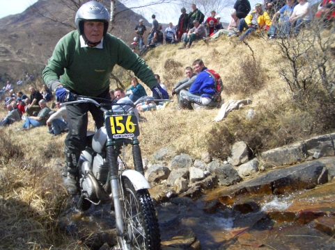 Mike Ransom on Am Bodach in 2008 at the Pre'65 Scottish Trial - Photo copyright: Iain Lawrie, Kinlochleven.