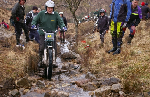 Mike Ransom on Mamore in the 2008 Pre'65 Scottish Trial - Photo: Iain Lawrie, Kinlochleven.