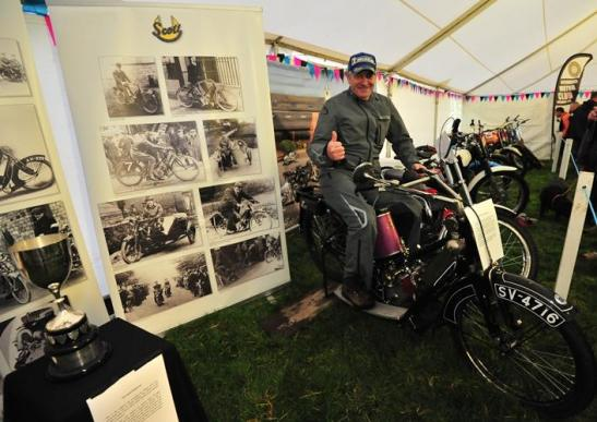 The 2014 Centenary Scott Trial was celebrated in style by the Richmond Motor Club who erected a huge pavilion on the start field with a glittering array of machines from bye-gone days and much memorabilia and photographs. - Photo: John Hulme/Trials Media.