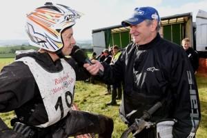 Ian Austermuhle, a popular winner of the Scott Trial 2015, interviewed by Trials Guru representative, John Moffat - Photo copyright: John Hulme, Trial Magazine UK
