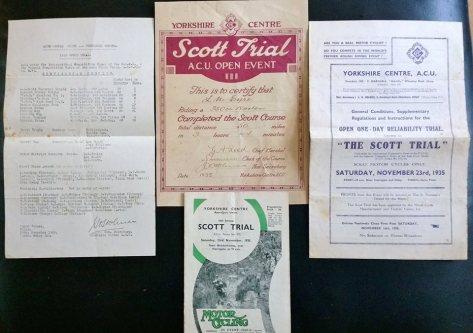 Scott Trial memorabilia - TE