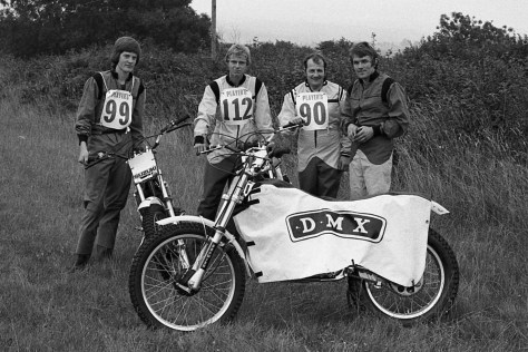 Anthony Rew, Graham Baker, Mike Rapley, Alan Dommett 1977