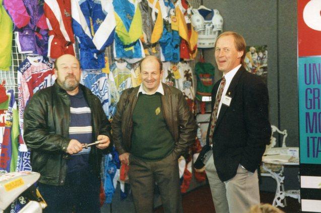 Bristol Dirt Bike Show 1991, Jack Mathews, Mike Rapley and Malcolm Rathmell