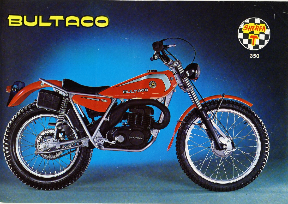 the bultaco sherpa t model cc u spanish market u which was introduced in september and was the first to feature a motor and