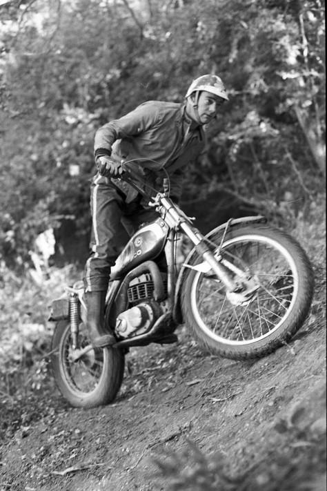 Dave Thorpe, probably West of England national trial of 1977