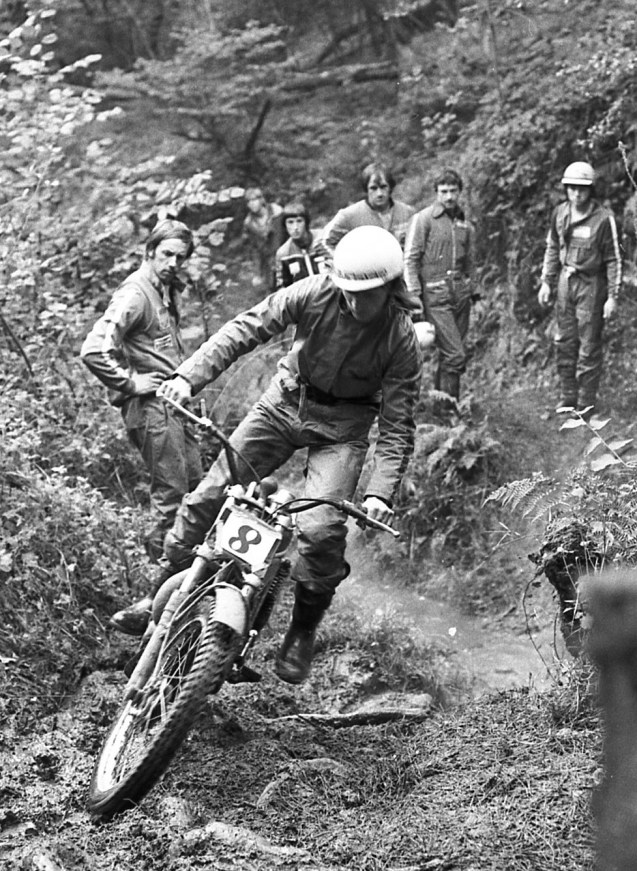 Geoff Parken watched by Alan Wright on the left and Norman Shepherd at the back on the right.