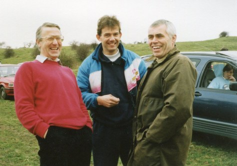 Graham Watkin, Nick Jefferies, Peter Salt and Julian Wigg in the car.