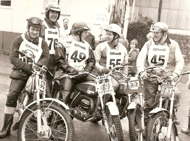 IP 1      53 Mike Rapley, 76 John Burnett, 49 Martin Lampkin, 55 Pete Thompson, 45 Ivan Pridham -  1976 British Round of the  World Championship