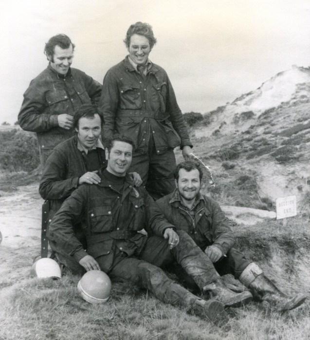 Mid seventies, Mervyn Lavercombe, Ivan Pridham, Malcolm Eveley, Pete Thompson, Mike Rapley.