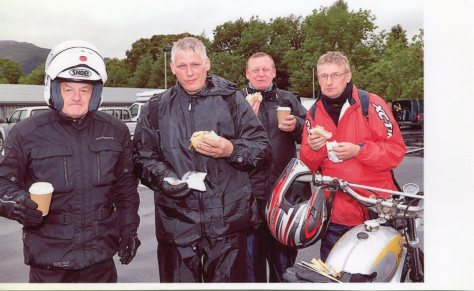 Nostalgia Run 2012. Mike Rapley, Chris Myers, Ian Bradley and Mike Myers.