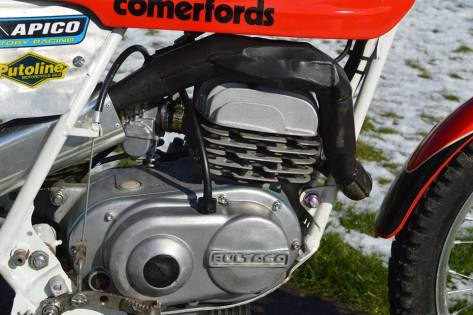 125 Bultaco - Motor close up - Vesty