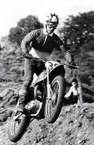 Tommy Robb in 1967 on Bultaco Scrambler