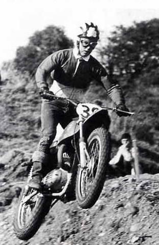 Tommy Robb in 1967 on Bultaco Scrambler