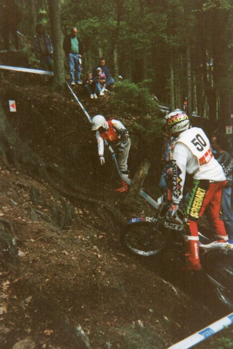1994 Belgium round of European championship; the first gp of his new career Dougies'minder