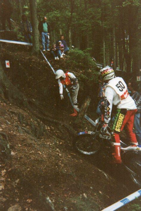 1994 Belgium round of European championship; the first gp of his new career Dougies'minder