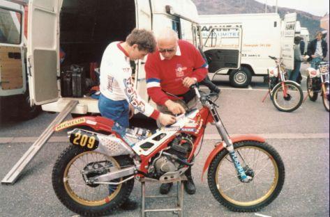 1986 Eric Lejeune + Papa