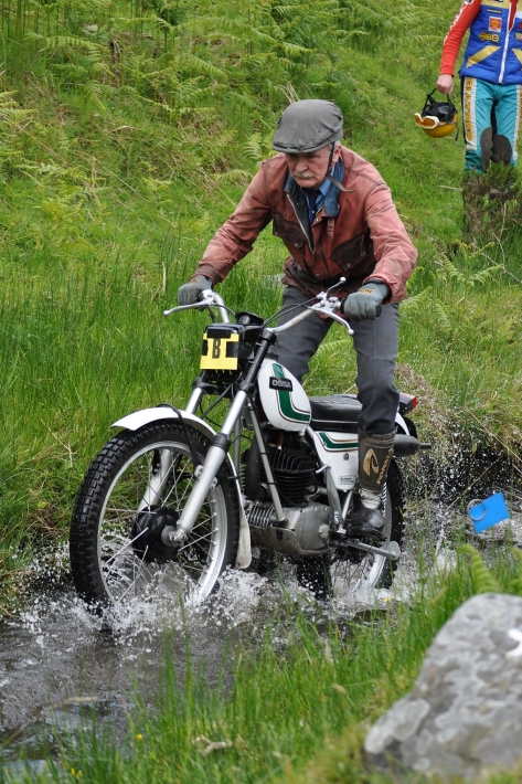 Red - Eddie Henderson - Bangor Co Down - 250 Ossa - Banbridge Club classic trial - CS