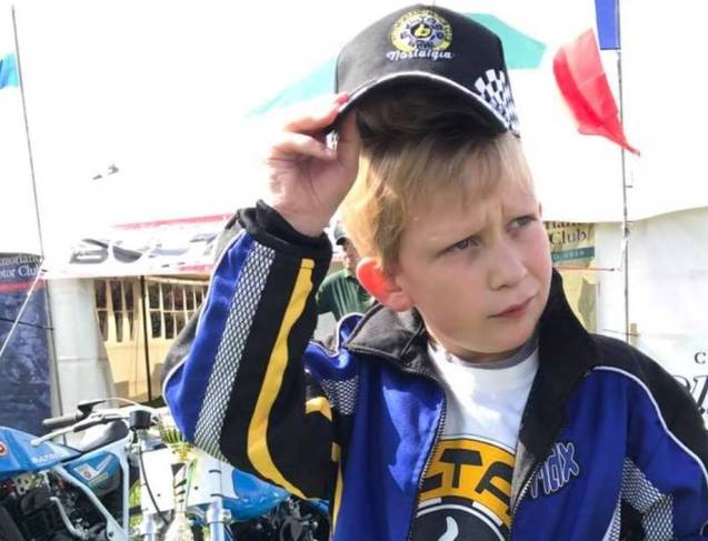 Young Bultaco Fan - crop