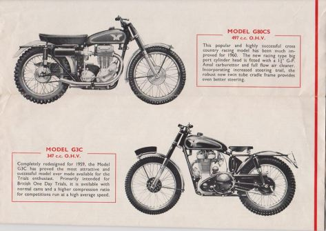 Ajs - Matchless 1960 publicity