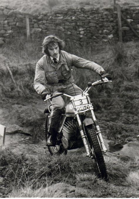 peter gaunt on a very early 125 dalesman 1971