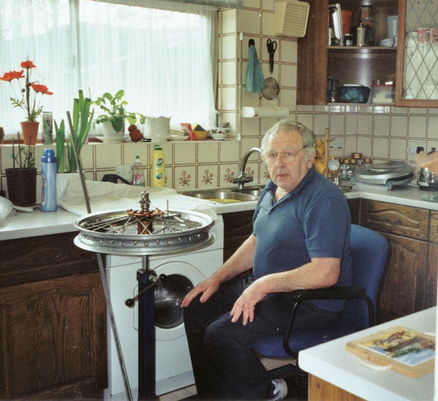 Jock Wilson - Kitchen wheelbuilding - Tolworth - Photo - Patricia Wilson