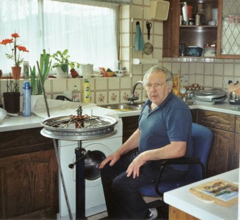 Jock Wilson - Kitchen wheelbuilding - Tolworth - Photo - Patricia Wilson