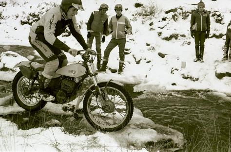 208joe buckworth about to test the icey cold water on his 280 swm 1982