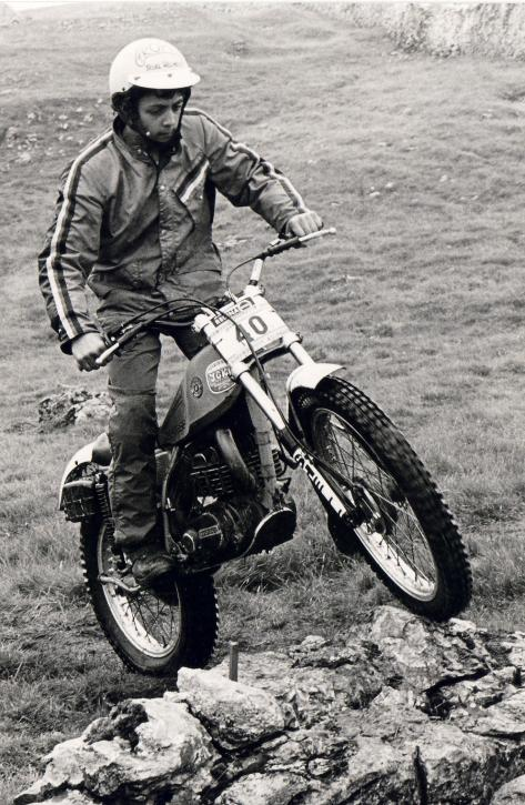 22comerfords bultaco rider tony scarlett,seen here at the bradford youth national in 1981