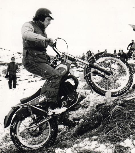 27yorkshire man john hemingway on his 350 bultaco